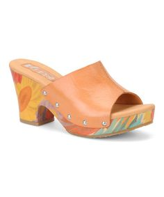 Take a look at this Orange Helen Leather Slide by Korks by Kork-Ease on #zulily today!  $39.99