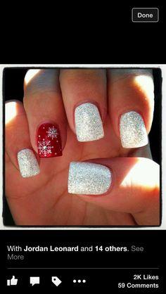 8 Creative Christmas Nail Designs Makeup Nail Nail And Mani Pedi