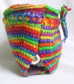 crochet wool diaper cover soaker rainbow tie dye by GotEmCovered, $30.00
