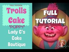 How to make a Poppy Trolls Cake - FULL TUTORIAL