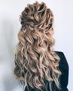 Finding just the right wedding hair for your wedding day is no small task but we're about to make things a little bit easier.From soft and romantic, to classic with modern twist these gorgeous Half up half down hairstyles with gorgeous details will inspire you... #weddingdayhair