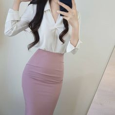 (notitle) - Secretary outfits - - Women in Uniform. - Милые наряды - Women in Uniform Fall Fashion Outfits, Work Fashion, Cute Fashion, Fashion Dresses, Korean Girl Fashion, Korean Fashion Trends, Classy Work Outfits, Cute Casual Outfits, Secretary Outfits