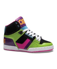 1e81d3adc52 Take a look at this Green & Black NYC 83 Slim Hi-Top Sneaker - Kids by  Osiris Shoes on today!