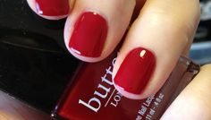 "Butter London Saucy Jack - A Dark, blood red nail lacquer. In the immortal words of Derek Smalls, ""You're a naughty one, Saucy Jack!"""