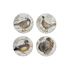 Williams Sonoma Plymouth Woodland Birds Mixed Appetizer Plates Set Of...  ($25