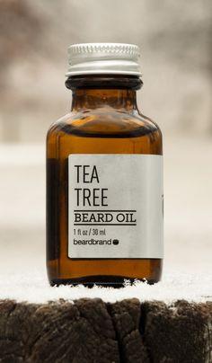 Tea Tree Beard Oil by Beardbrand. Xmas for Andrew?