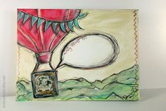 Envelope NOT A PRINT Original Hand Painted Heavy by JessicaHicklin, $18.00