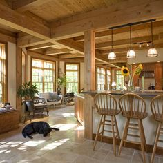 Post And Beam House Design Ideas, Pictures, Remodel, and Decor