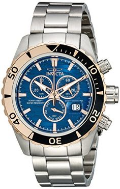 Invicta Mens 14340 Pro Diver Analog SwissQuartz Silver Watch ** Check this awesome product by going to the link at the image.