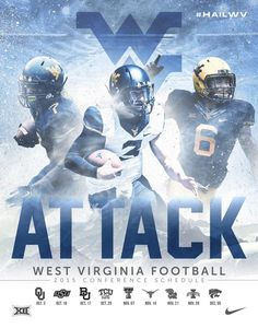 West Virginia 2015 Football Poster 1