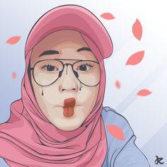Hijab Drawing, Islamic Art, Islamic Quotes, Hijab Cartoon, Cute Love, Fashion Sketches, Hijab Fashion, Art Girl, Iphone Wallpaper