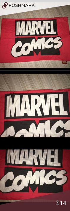 """Marvel comics double sided pillow case 18""""X29"""" Thank you for viewing my listing, for sale is a marvel comics, red black and white, official pillowcase. Pillow case measures appx 18"""" x 29""""   No rips or stains. If you have any questions or would like additional photos please feel free to ask. Marvel Accessories"""
