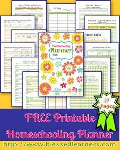 Free Printable Homeschooling Planner