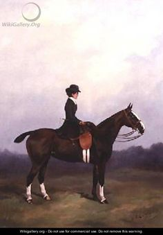 Lady Riding Side-saddle - Henry Frederick Lucas-Lucas