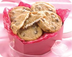 cream cheese filled chocolate chip cookies