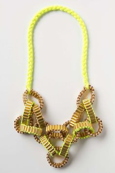 Crepe Chain Neon Necklace | Anthropologie.eu