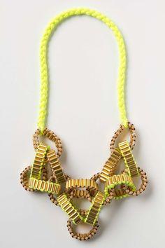 Crepe Chain Neon Necklace