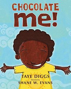 """Yummy Taye Digs who's married to the beautiful Idina Menzel wrote the yummy """"Chocolate Me!"""" So adorable!  Bedtime on 7/28/12 for #fridayreads"""