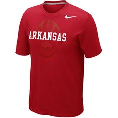 Nike Arkansas Razorbacks Football 2012 Team Issue T-Shirt - Cardinal