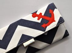 Hey, I found this really awesome Etsy listing at https://www.etsy.com/listing/178668103/womens-wallet-chevron-anchors-aweigh