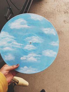 Vinyl Skies Is A Nice Surprise - Painting Aesthetic Painting, Aesthetic Art, Record Wall Art, Cd Art, Art Music, Ideias Diy, Vinyl Art, Vinyl Record Crafts, Art Inspo