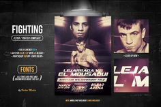 Fighting - Flyer/Poster by VectorMedia on @creativemarket