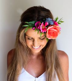 Tahiti Tropical Flower Crown