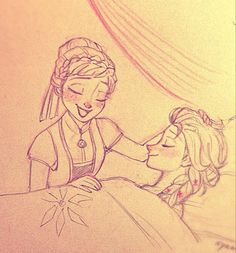 Sisters (Rest easy there, Elsa. Frozen Drawings, Bff Drawings, Disney Drawings, Easy Drawings, Cute Disney, Disney Art, Disney Pixar, Frozen Elsa And Anna, Disney Frozen