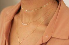 Dainty Gold Shimmer Choker Gold Chain Choker Boho by SHOPEVREN