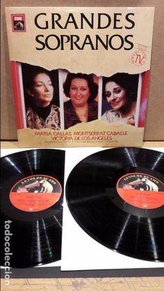 GRANDES SOPRANOS. DOBLE LP / LA VOZ DE SU AMO - 1989 / MBC. ***/***