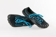 Black Upper, Turquoise Stitching & Black Sole (W)