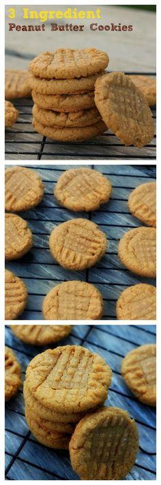 3 Ingredient Peanut Butter Cookiescollage