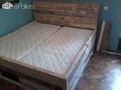 Pallet Bed with Drawers DIY Pallet Bedroom - Pallet Bed Frames & Pallet Headboards