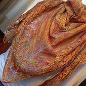 Free knit -  Falling Leaves Shawl pattern by Denae Merrill
