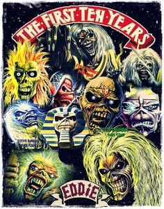 Iron Maiden Hard Rock, Heavy Metal Art, Heavy Metal Bands, Bruce Dickinson, Iron Maiden Cover, Iron Maiden Mascot, Iron Maiden Posters, Iron Maiden Albums, Eddie The Head