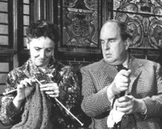 Joyce Grenfell again, in The Old Dark House, with Robert Morley