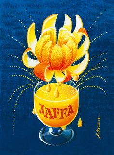 The brand new Erik Bruun Jaffa-poster now available for orders. Size 70 x 100 cm. Vintage French Posters, Vintage Travel Posters, Retro Posters, Retro Ads, Vintage Advertisements, Vintage Ads, 1950s Ads, Poster Ads, Advertising Poster