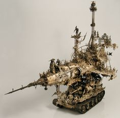 phantasmagorical mechanical Dante: sculpture by Kris Kuksi | art machines