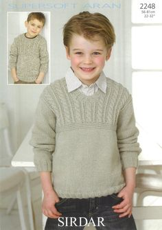 the online pattern store Boys Knitting Patterns Free, Kids Patterns, Sweater Knitting Patterns, Knitting For Kids, Knit Baby Sweaters, Boys Sweaters, Cable Sweater, Crochet Baby, Crochet Hooks
