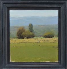 """Summer Day with Sheep - 6"""" x 5.5"""" - $1500"""