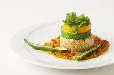 Zucchini on Unpolished Rice with Cone http://g-veggie.com/gandv/