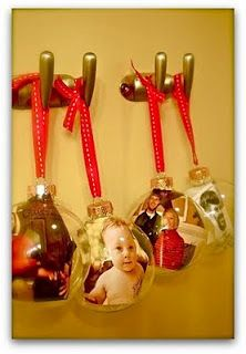 Photo ornaments- Craft for my students to give to their parents for Christmas. Diy Photo Ornaments, Diy Christmas Ornaments, Homemade Christmas, Christmas Projects, Holiday Crafts, Holiday Fun, Christmas Decorations, Glass Ornaments, Christmas Ideas