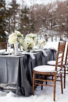 Pewter & White Wedding table...