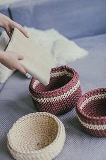 Ravelry: A set of 3 crochet baskets pattern by Simona Kastanauskiene