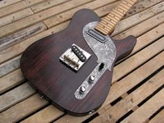 Picture of the body of a Telecaster made in pine with a Charlie Christian pickup - neck