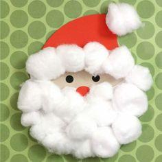 Cotton Ball Santa Silhouette Kids Craft | Analisa Murenin for Silhouette