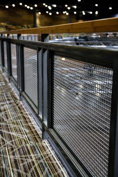 Metal mesh panel stair panel construction case _ Mid-Fill series € … - All About Balcony Loft Railing, Interior Stair Railing, Modern Stair Railing, Balcony Railing Design, Metal Railings, Modern Stairs, Staircase Design, Industrial Stairs, Industrial Interiors