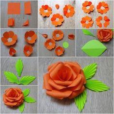 Mooie rozen maken van papier.