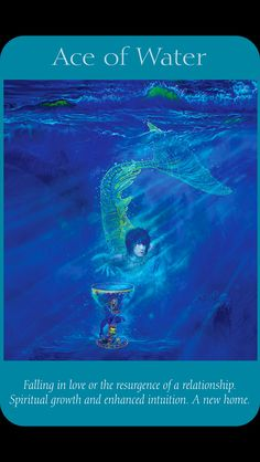Ace of water - Angel tarot by Doreen virtue and Radleigh Valentine