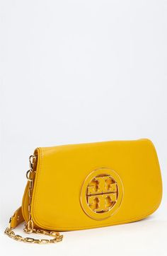 Tory Burch 'Logo' Clutch, love the color